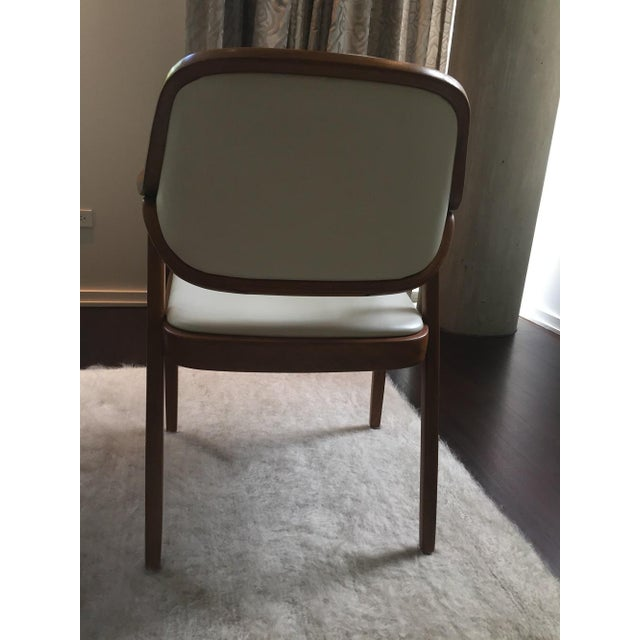Vintage Don Petitt for Knoll White Leather Armchairs - Set of 12 - Image 7 of 11