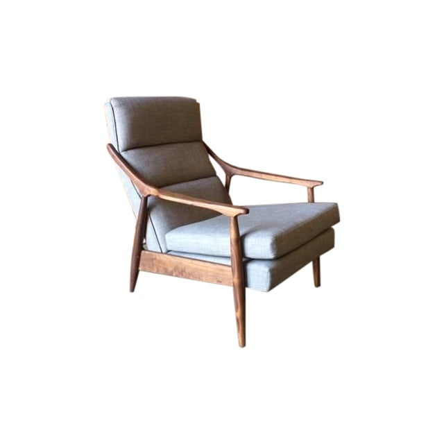 Custom Danish Mid-Century Style Lounge Chair - Image 1 of 5