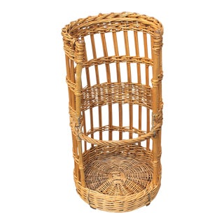 BEAUTIFUL LARGE OPEN-SIDED FRENCH BAGUETTE BASKET CIRCA EARLY 1900s