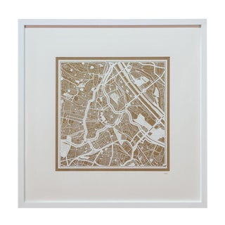 Sarreid Ltd Vienna Framed Map