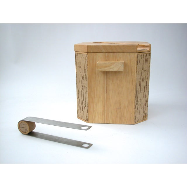 Georges Briard Wood & Cork Ice Bucket - Image 5 of 9