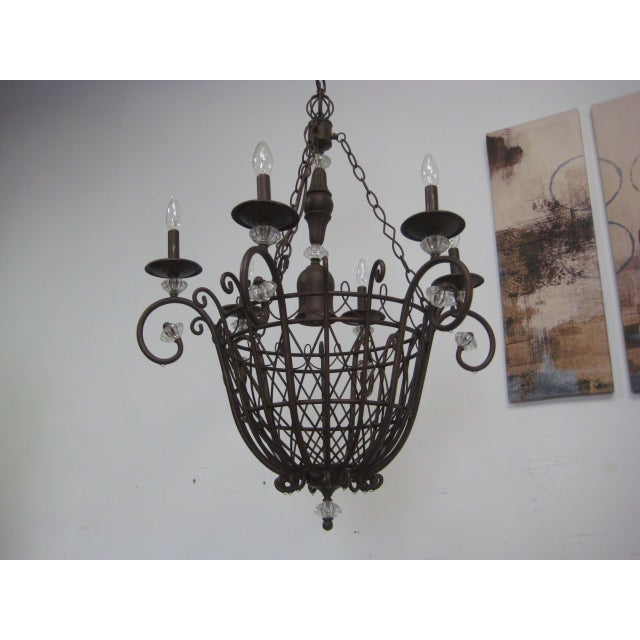 Oil Rubbed Bronze Candle Style Chandelier - Image 7 of 8