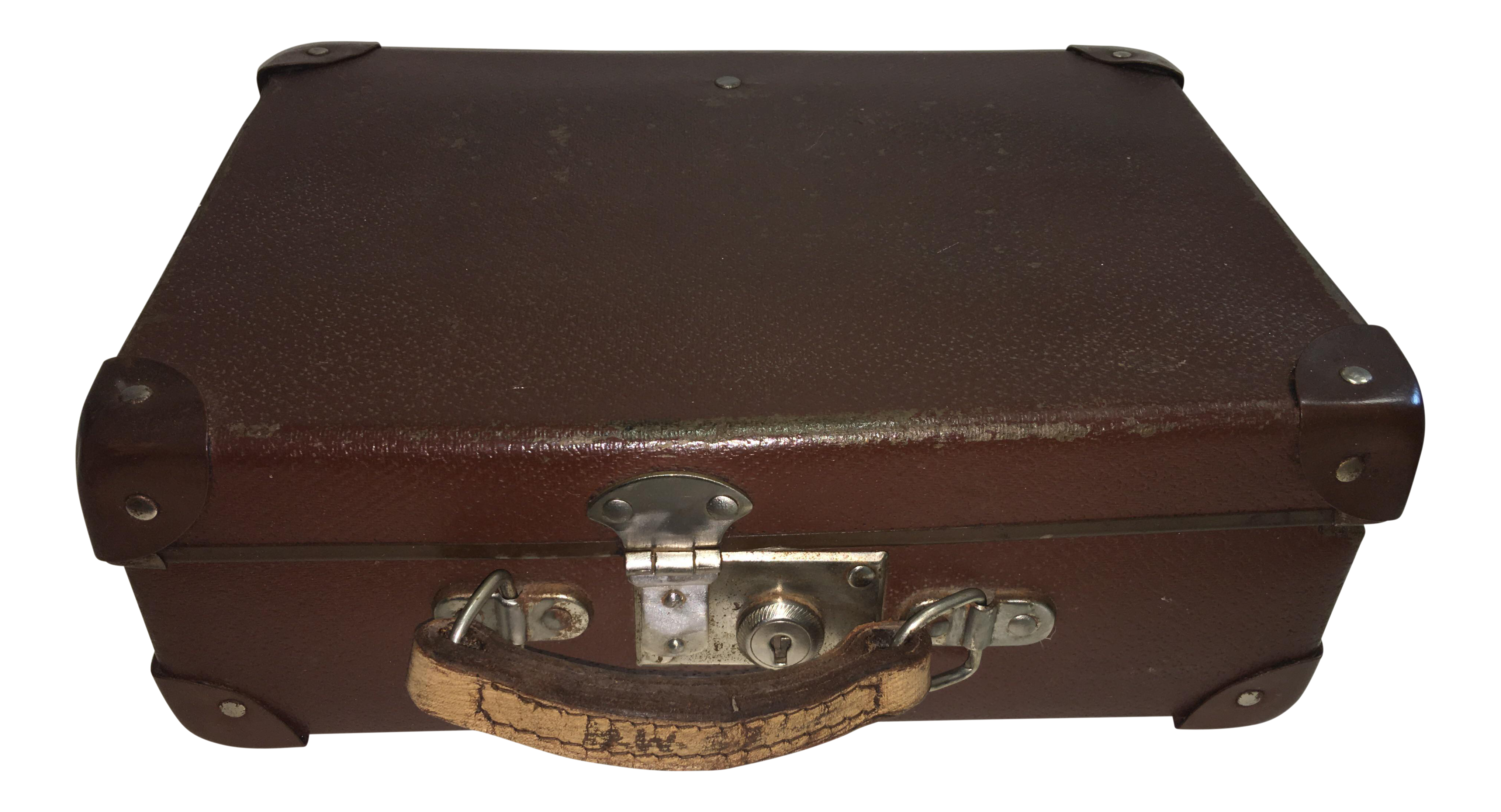 Vintage English Cardboard Suitcase | Chairish