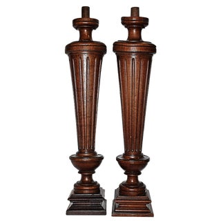 French Walnut Columns - Pair
