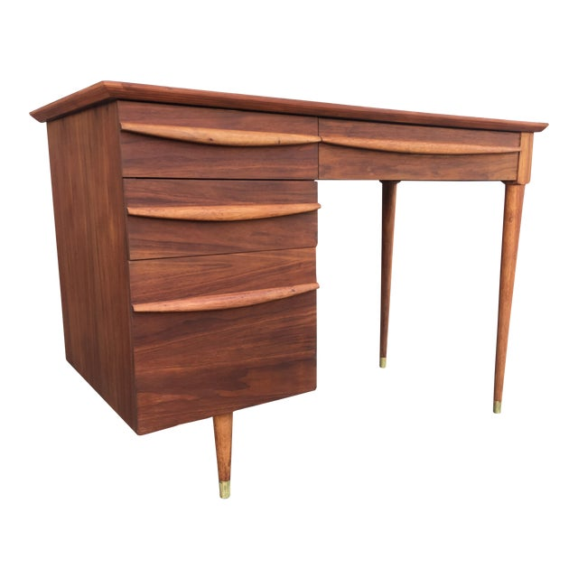 Vintage Mid-Century Wood Desk - Image 1 of 9