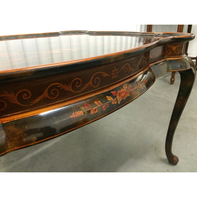 Maitland-Smith Hand-Painted Inlay Coffee Table - Image 9 of 10