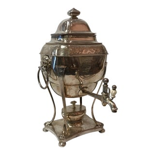 Antique Silver Plated Hot Water Kettle