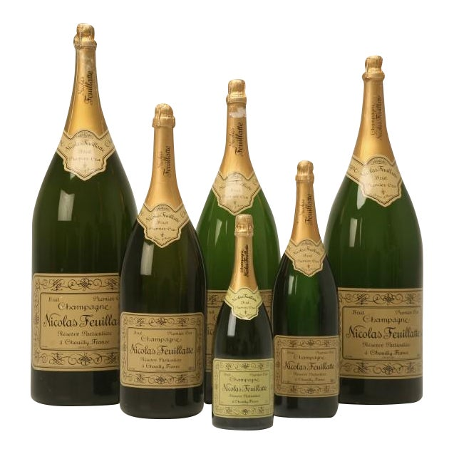 Set of 6 Nicolas Feuillatte Champagne Bottle Store Props - Image 1 of 10