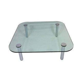 1970s Pace Glass and Chrome Coffee Table