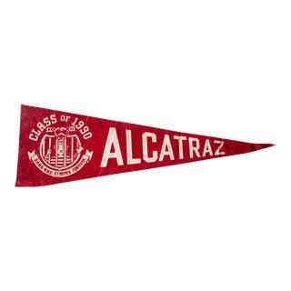 Class of 1990 Alcatraz Brass and Stripes Forever Felt Flag