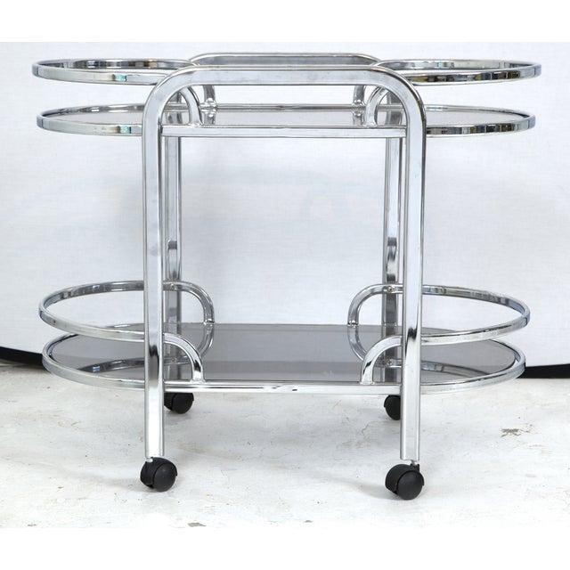 Vintage Art Deco Chrome Bar Cart Chairish