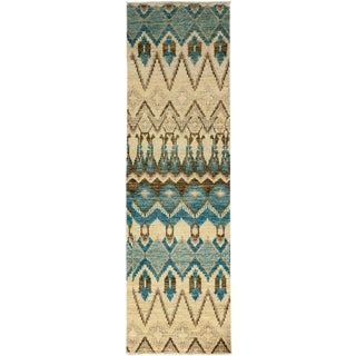 """Ikat, Hand Knotted Runner Rug - 2' 6"""" x 8' 5"""""""