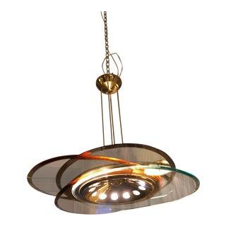 Italian Glass Disc Chandelier