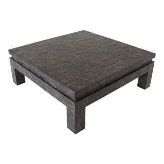 Square Coffee Table with Copper Patchwork Finish by Maitland-Smith