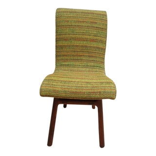 Vintage Danish Modern Solid Teak Bent Back Chair