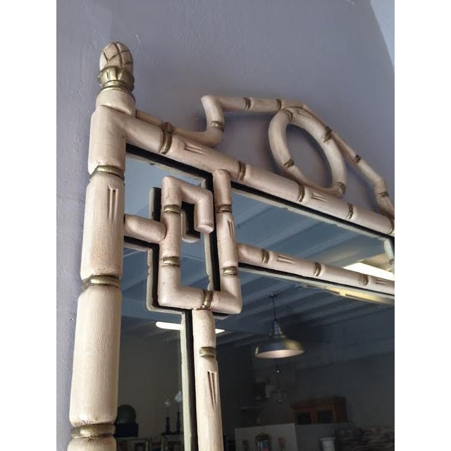 Hollywood Regency Style Faux Bamboo Mirror - Image 3 of 3