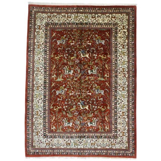 Vintage Hand Knotted Wool Romanian Rug - 8′3″ × 11′4″