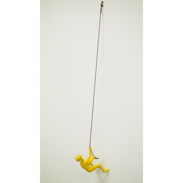 Climbing Man Wall Art Sculpture - Yellow - Image 5 of 5