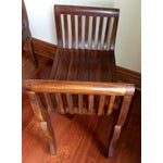 Image of Carved Asian Teak Single Seat Benches - A Pair