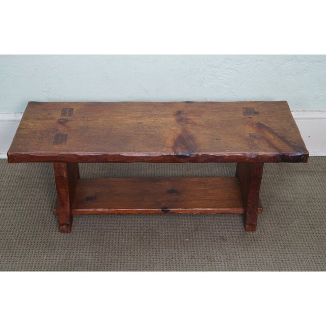 Rustic Slab Wood Coffee Table - Image 2 of 10
