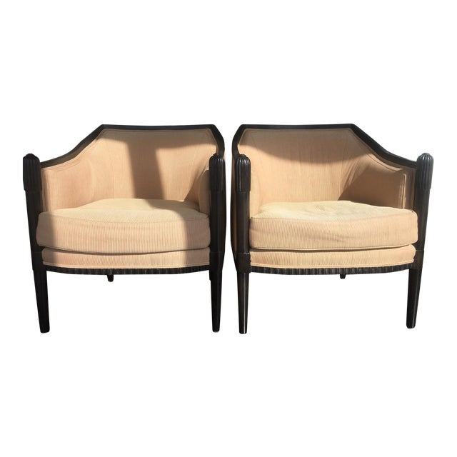 Art Deco Style Lounge Chairs - A Pair - Image 1 of 11