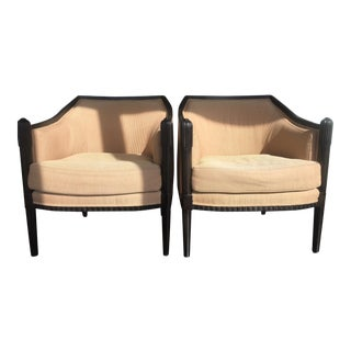 Art Deco Style Lounge Chairs - A Pair
