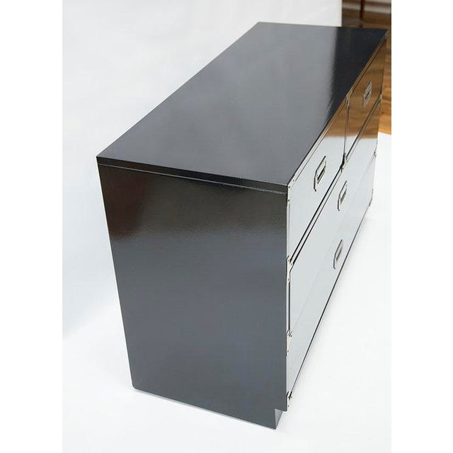 Black Lacquered Campaign Chest - Image 6 of 8