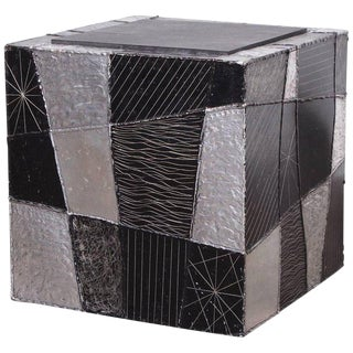 "Paul Evans ""Argente"" Cube Side Table"