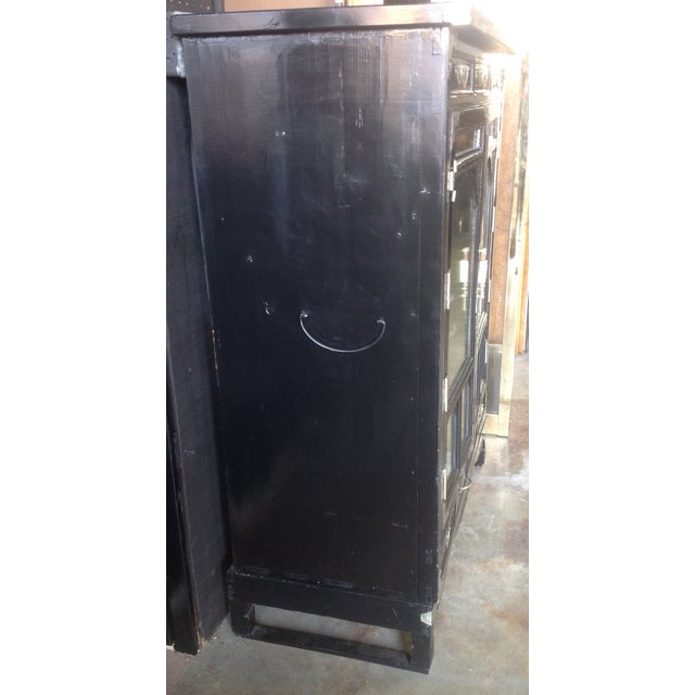 Black Lacquer Chinoiserie Cabinet - Image 3 of 10