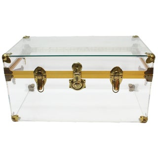 Hollywood Regency Vintage Lucite Trunk