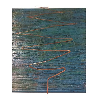 """""""Bagni"""" Abstract Mixed Media Featuring Hammered Copper"""