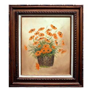 Basket of Flowers Painting