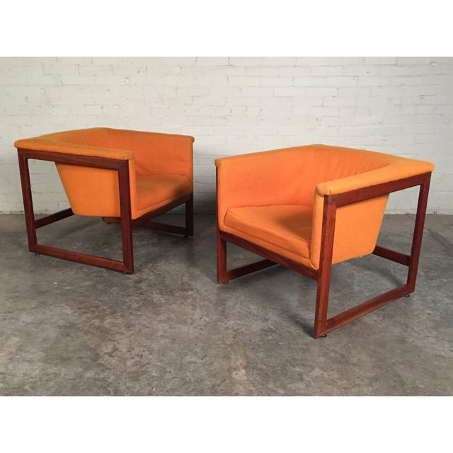 Milo Baughman Mid-Century Modern Floating Cube Chairs - A Pair - Image 10 of 10
