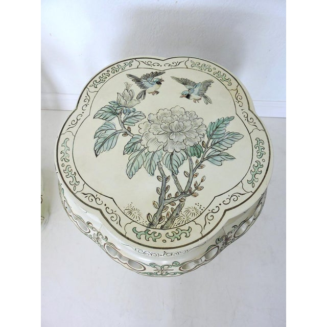Oriental Lacquer Garden Stools - a Pair - Image 5 of 8