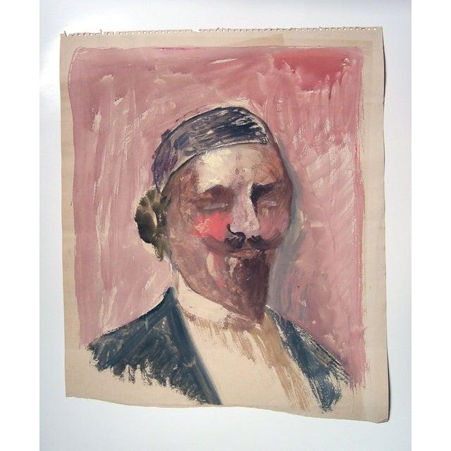 Watercolor & Gouache Portrait Painting - Image 3 of 3