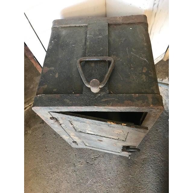 Solid Iron Antique Train Lock Box - Image 4 of 10
