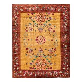 """Suzani, Hand Knotted Area Rug - 8' 10"""" x 11' 3"""""""