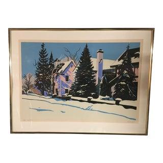 """Icy Trees"" Serigraph by Jon Carsman"