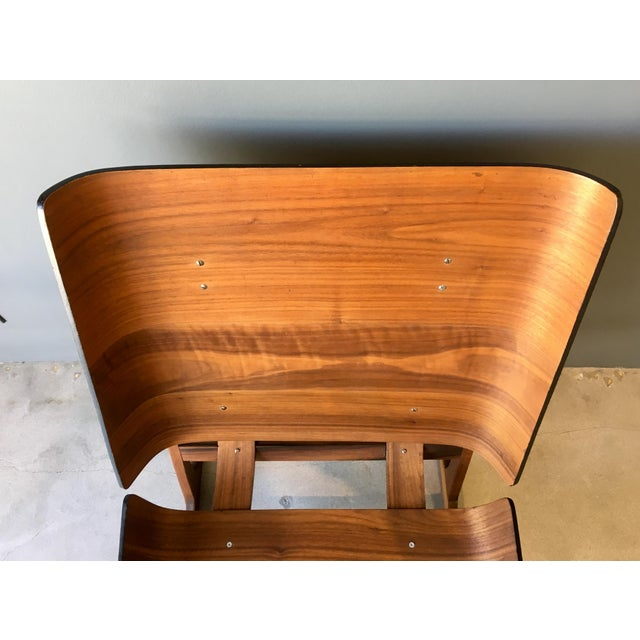 Grete Jalk Style Mid-Century Bent Walnut Side Chair - Image 7 of 10
