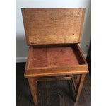 Image of Antique Country Pine Slant Top Children's School Desk