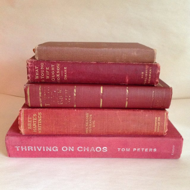 Red Antique Collected Books - Set of 5 - Image 2 of 11