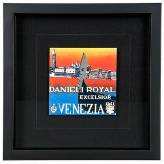 Framed Vintage Hotel Luggage Label - Danieli