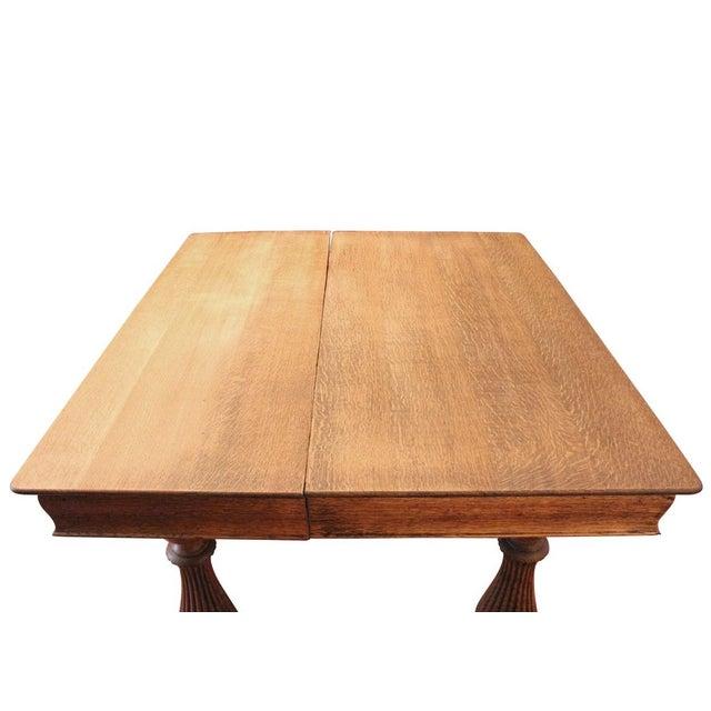 Oak Turned Leg Dining Table - Image 3 of 4