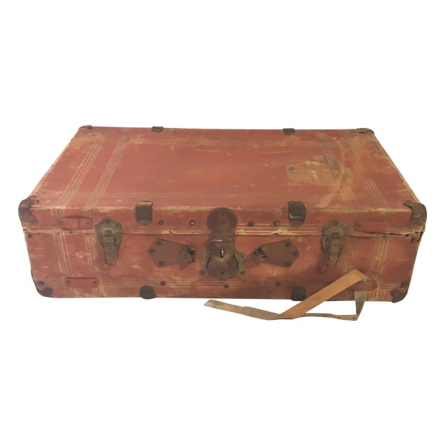 Vintage Leather Suitcase - Image 1 of 4