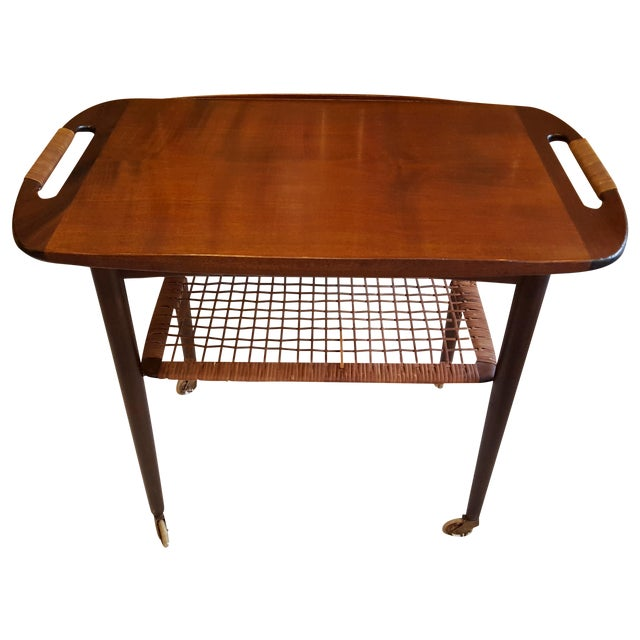 Image of Mid-Century Danish Modern Cocktail Cart by Selig