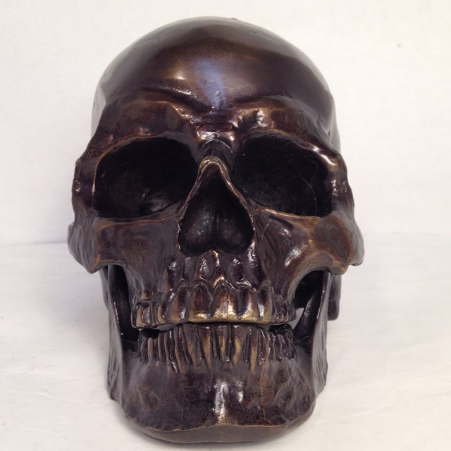 Metal Skull Sculpture - Image 3 of 7