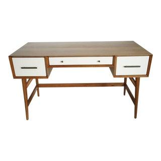 West Elm Mid-Century Style Acacia Wood Desk