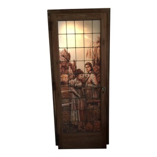 Antique Stained Glass Door