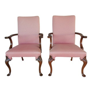 Hickory Chair Fireside Arm Chairs - A Pair