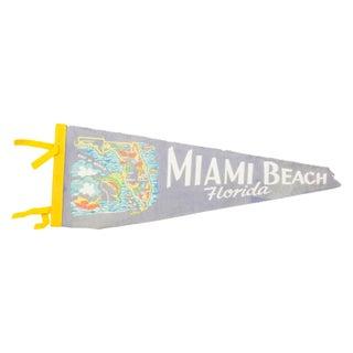 Vintage Miami Beach Felt Flag Banner